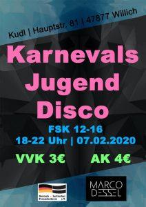 Jungend Karnevalsdisco @ KUDL Neesren